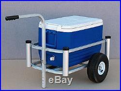 Beach Pier Cart ONLY- will hold 4 Rod-Holders 54 Quart Cooler