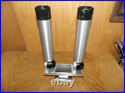Big Jon Adjustable Rod Holders Track or Direct Mount Pedestal Base CLEAN 7/21 A