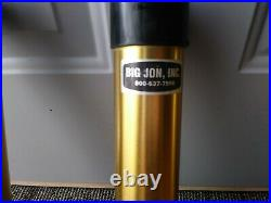 Big Jon Downrigger Rod 3 place gold Holder with Base for trolling fish