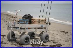Big Kahuna Beach Wagon-Aluminum-Walls-No Rust-Balloon Tires-Rod Holders-Made USA