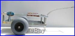 Bimini Beach Wagon-Four Rod Holders-No-Rust-Sand Tires- Aluminum-Made In USA