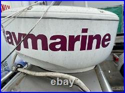 Boat Radar-Arch w Fishing Rod Holders/ RayMarine Raydome Radar Scanner 4KW