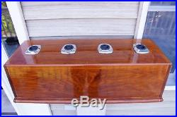Boston Whaler Solid Mahogany Perko Sea Fishing Rod Holder (4) Console/Cabinet