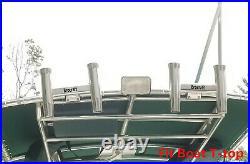 Brocraft Aluminum Clamp On Twin Fishing Rod Holder/Boat T-TOP Rod Holder