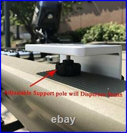Brocraft Crappie Rod Holder System with Gunnel Track Mount