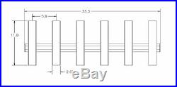 Brocraft Hitch Mount 6 Pole Rod Holder/Hitch Fishing Rod Standard Hitch Mount