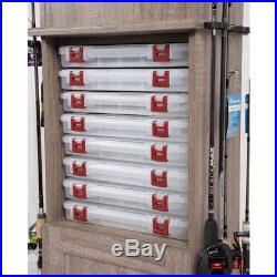 Cabinet Rod Holder Fishing Storage Organization Tackle Box Rack Bait Fly Supply