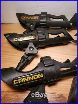Cannon Black Plastic Rod Holder 6 HOLDERS + 7 BASES