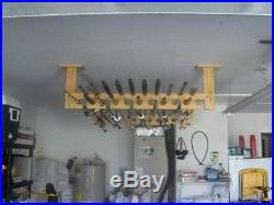 Ceiling Loft Angler Series 21 Fishing Pole Rod Rack Storage Mount Holder Pine