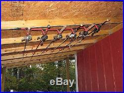 Ceiling Rod Rack Storage Reel Fishing Overhead Wall Mount Holder Horizontal Pole