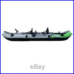 Cormorant Inflatable 2 Person Fishing Kayak Set with 6 Rod Holders, Paddles, Dou