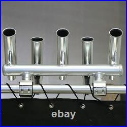 Dolphin 5 Rod Holder Fishing Console Boat T Top Rocket Launcher Anodized
