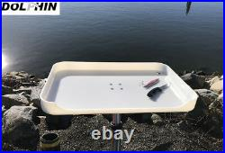 Dolphin T Top Adjustable Fishing Boat Bait Board Table with 1 Flush Rod Holder