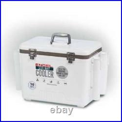 Engel 30-Quart Live Bait Dry Box and Cooler with Rod Holders, White (Open Box)