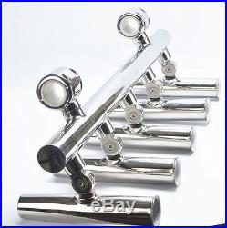 Excellent Adjustable 5-Rod Holder Fishing Console Top Rocket Launcher US STOCK