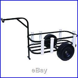 Fishing Cart Pier Beach Surf Rod Reel Cooler Holder Rack Wheels Gear Carrier New