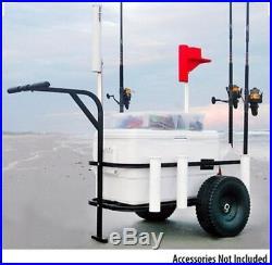 Fishing Cart Rod Holders Tackle Pier Beach Wagon Surf Runner Cooler Rack Dock