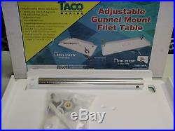 Fishing Filet Table Taco 236 P012120w Fits In Gunnel Rod Holder Bait Cleaning