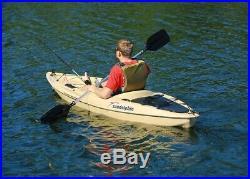 Fishing Kayak Sport Fisher Angler Sit On Kayaks Rod Holders Paddle Tan Fish On