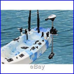 Fishing Kayak Trolling Motor Mount Universal + Two Rocket Launching Rod Holder