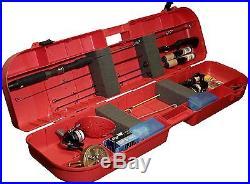 Fishing Rod Hard Case Safe Box 8 Rods Hold Secure Lock Pole Reels Tackle Holder