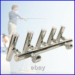 Fishing Rod Holder Rocket Launcher Highly Polished Stainless Steel 5 Tube