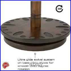 Fishing Rod Rack Wood Round Holder Stand Pole Storage Vertical Spinning Premium