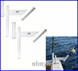 Fishing Rod Spreader Outrigger Boat Trolling Dredge Teaser Holders Pair 2x
