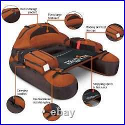 Float Fishing Tube Easy Access Rod Holder Comfortable Backrest