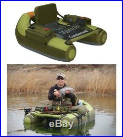 Float Tube Fishing Hunting Boat Inflatable Cumberland Raft Pontoon with Rod Holder