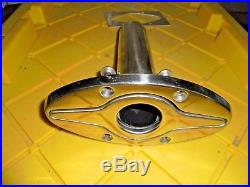 Flush Mount Cast Stainless Steel 90° Fishing Rod Holder & 7 Pop Up Cleat