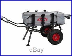 Folding Fishing Cart Collapsing Fish & Rods Holder Transport Storage Aluminum