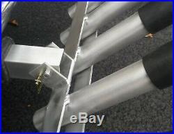 Folding Hitch Mounted Aluminum Fishing Rod Holder / Surf Pole Rack