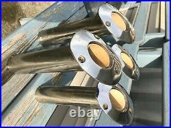 Four Lee's Rod Holders heavy duty flush mount