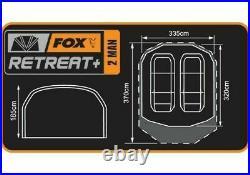 Fox Retreat + Ripstop Ventec 2 Man Bivvy Carp Fishing Bivvy CUM202