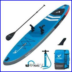 Freein 116 Inflatable Fishing Sup with Rod Holders Stand Up Paddle Board
