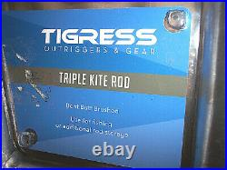GENUINE Tigress Triple Kite Rod Holder Outrigger Fishing Rod Holder 88156 Holder