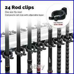 Goture 24 Rod Racks Portable Aluminum Alloy Fishing Rod Storage Stand Holder