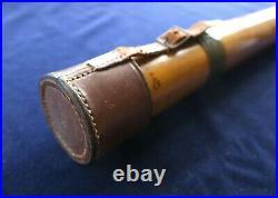 HARDY BROS ORIGINAL BAMBOO ROD HOLDER TUBE CASE fly fishing split cane reel bag