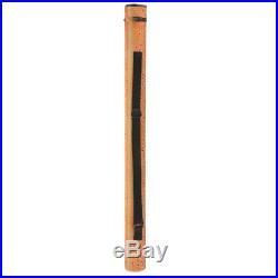 Hard Tube Fly Rod Fishing Pole Case Tube Travel Padded Rod Holder for 9FT