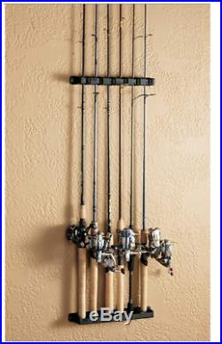 Horizontal Fishing Rod Rack Vertical Holder Wall Mount Storage Boat Pole Stand