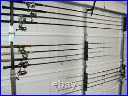 Horizontal Rod Rack Holder Storage Truck Car Wall Mount Fishing Pole Gear Boat