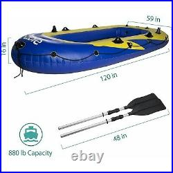 Inflatable Excursion Boat Set For Fish Rod Holders, Pump & 2 Oars SA-HF024