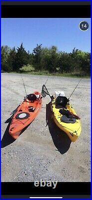 Kayak 14' Wilderness Systems Orange W2 custom fishing rod holders, paddle, jacket