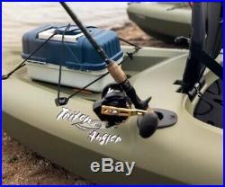 Lifetime Triton 10 Foot Green Polyethylene Single Man Fishing Kayak Rod Holders