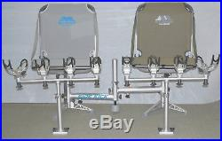 MILLENNIUM D-200-00 SIDEKICK with2 B100GY GREY BOAT SEATS & TWO R100 ROD HOLDERS