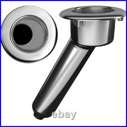 Mate Series Elite Screwless Stainless Steel 30 Rod Cup Holder Drain Round To