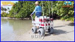 NEW Kahuna JUNIOR Beach Wagon-Walls-No Rust-Balloon Tires-Rod Holders-Made USA