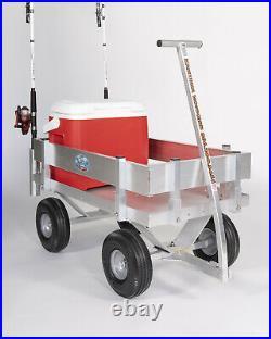 NEW Kahuna JUNIOR Fishing Wagon-Walls-No Rust-10 Tires-Rod Holders-Made USA