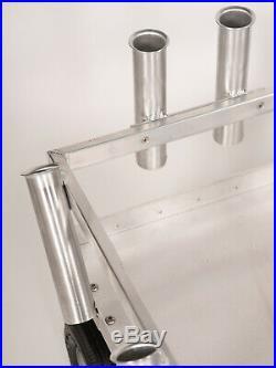 NEW! THE SIDEKICK! -World's Best Pier & Dock Cart-10 Rods-Aluminum-USA